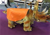 Lovely Cartoon Animatronic Animal Scooters Walking Dinosaur Toy Car Kiddie Rides