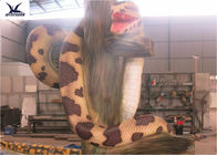 Animal Park Lifelike Animatronic Animals Customized Snake Sculpture For Decoration