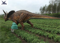 Life Size Farm Animal Models , Full Size Triceratops Dinosaur Lawn Sculpture