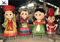 Life - Size Fiberglass Statues Cartoon Shape Kindergarten Educational Decoration