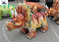 High Simulation Animatronic Dinosaur Scooters Kiddie Rides For Shopping Center