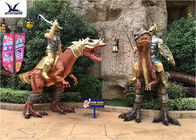 Outdoor Amusement Equipment Decoration Life Size Fiberglass Dinosaur Statues
