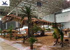Water Park / City Center Realistic Dinosaur Models With Anti - Rust Steel Frame