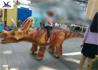 4 Meters Long Walking Ride On Dinosaur , Large Interactive Dinosaur Warranty 1 Year