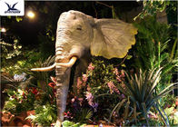 Zoo Park Decorative Life Size Animatronic Animals Large Elephant Figurines