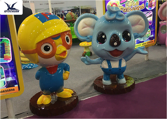 Decorative Life Size Cute Cartoon Lifelike Fiberglass Statues For Amusement  Park