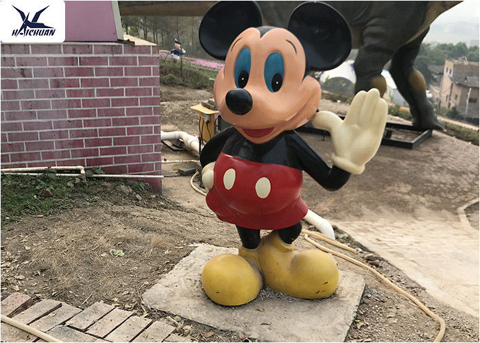 Cartoon Life Size Fiberglass Statues Lovely Park Decoration Mickey Mouse Statues