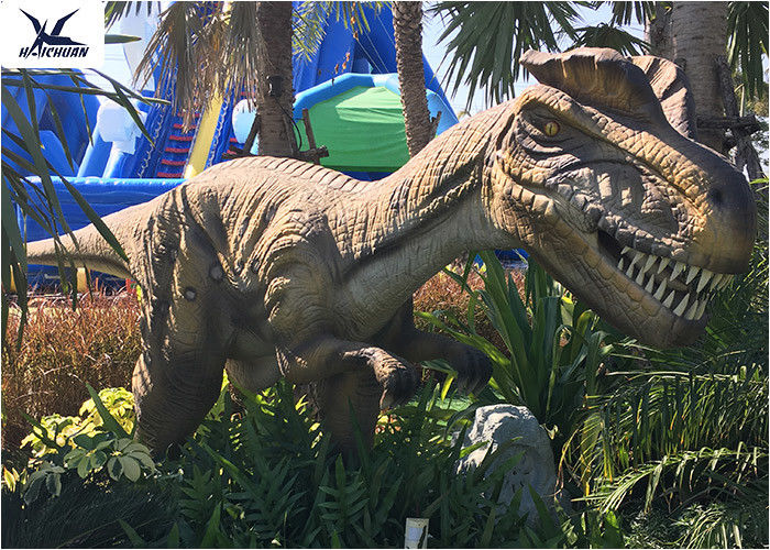 Artificial Full Size Dinosaur Models Animatronic Dinosaur For City Plaza