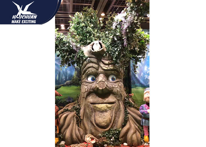 Sunproof Realistic Handmade Talking Tree  Amusement Park Decoration