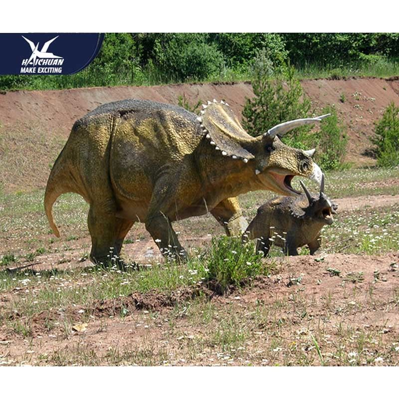 Customization Lifelike High Simulation Outdoor Dinosaur Model With Infrared Ray Sensor