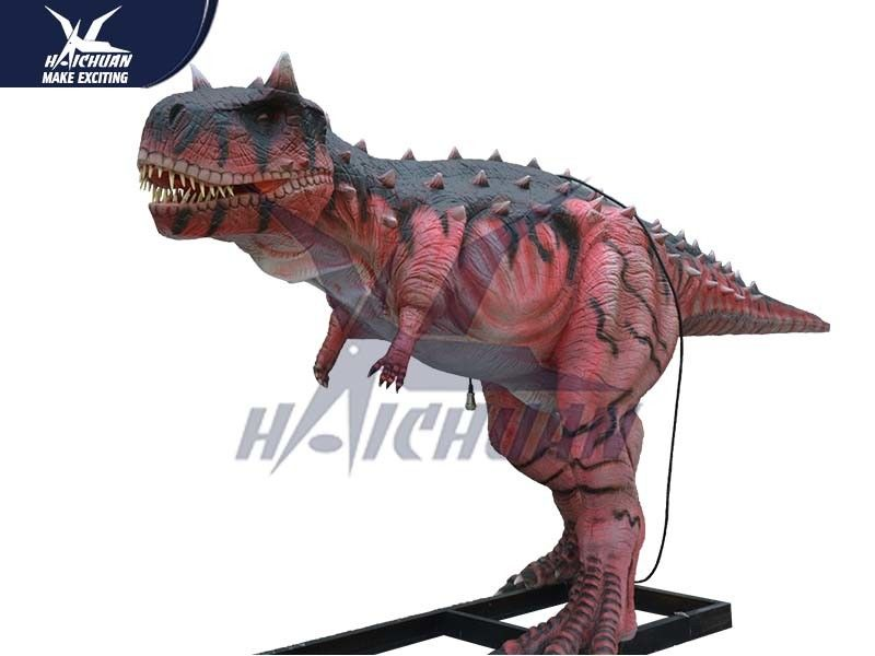 Durable Silicon Rubber Alive Handmade Dinosaur Statue For Water Park NOA